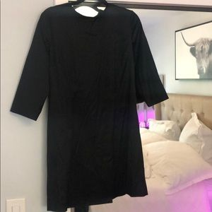 Black silky French connection mini dress size 10